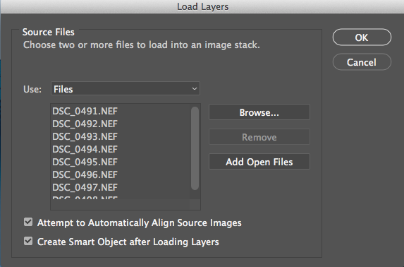 Load Layers into Stack