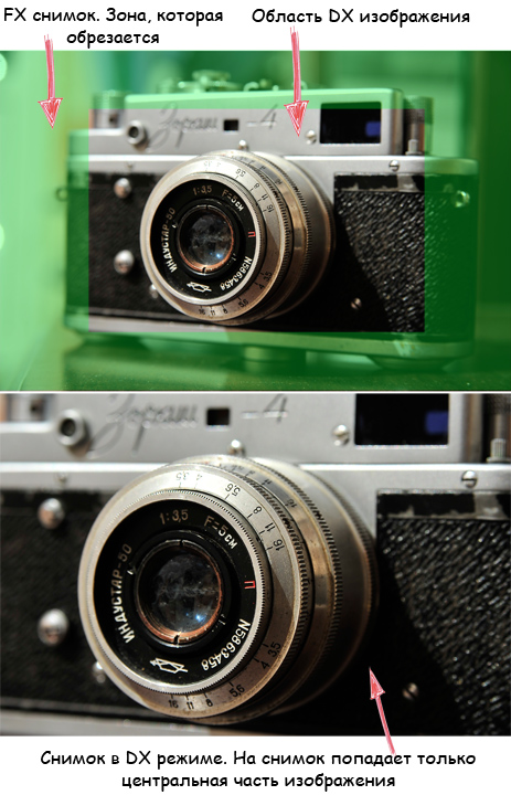 The difference between cropped and full-frame cameras