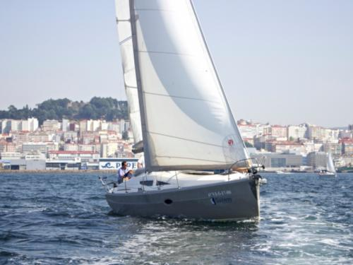 Sailing boat Elan 344 Impression for hire in Vigo